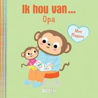 Ballon - Boek - Kartonboek - Ik hou van... opa