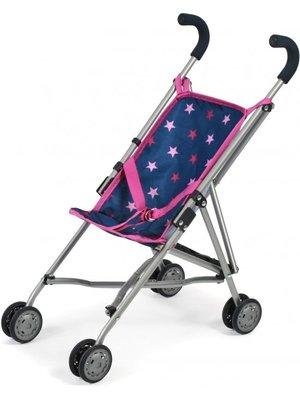 Bayer Chic - Poppenbuggy - Roma - Blauw/roze met sterren