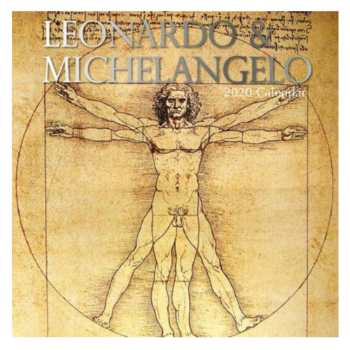 Comello Maandkalender - Leonardo & Michelangelo - 2020 - 30x30