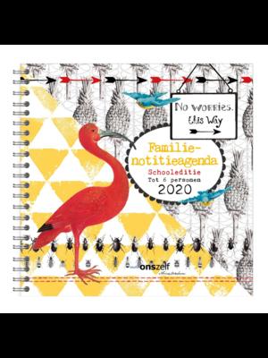 Comello Comello - Agenda - Spiraal - Familienotitieagenda - Schooleditie - Flamingo - 2020