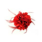Speld - Bloem - Rood - in Textiel & Handwerken