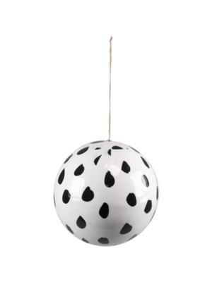 1234feest 1234feest - Kerstbal - Maxi - Luipaardprint - 30cm - Kunststof