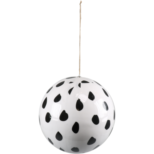 1234feest Kerstbal - Luipaardprint - 30cm - Kunststof