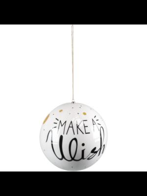 1234feest 1234feest - Kerstbal - Maxi - Make a wish - 25cm - Kunststof
