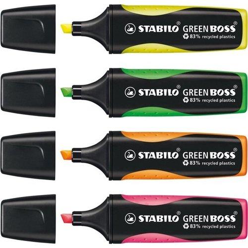 Stabilo Markeerstiften - Stabilo - Fluor / neon - 4st. - In etui
