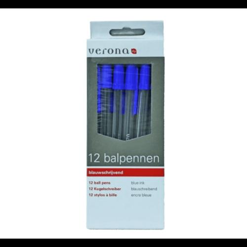 Verona Balpennen - 12st - Blauw