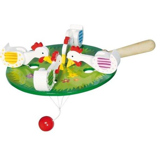 Goki Pikkende kippen - Wit - 12.5cm