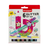 Viltstiften - Glitter - 6st.