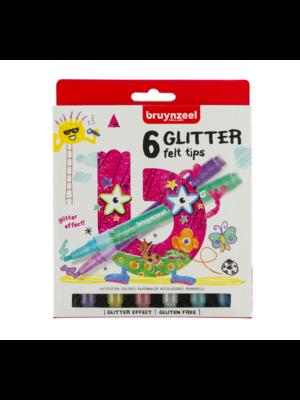 Bruynzeel Bruynzeel - Viltstiften - Glitter - 6st.