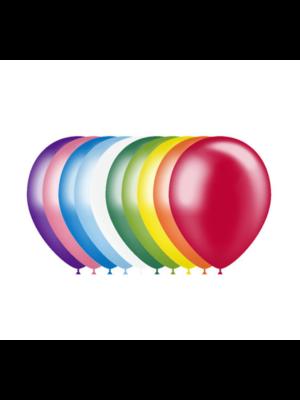 Ballonnerie Ballonnen - Gekleurde mix - Metallic - 28cm - 100st.