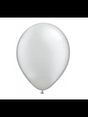 Folat Ballonnen - Zilver - Metallic - 30cm - 10st.