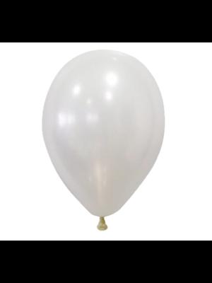 Festival - Ballonnen - Wit - Metallic - 28cm - 100st.