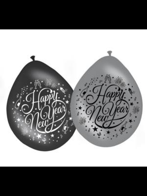 Folat Folat - Ballon - Happy New Year - 30cm - 8st.
