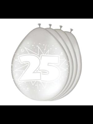Folat Ballonnen - 25 Jaar getrouwd - 30cm - 8st.