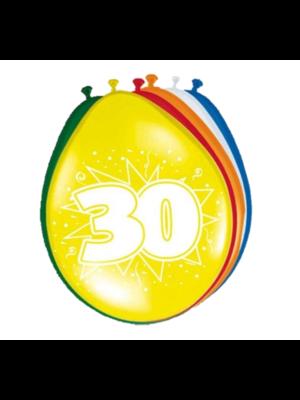 Folat Folat - Ballonnen - 30 Jaar - 30cm - 8st.