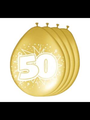 Folat Ballonnen - 50 - Goud - 8st.