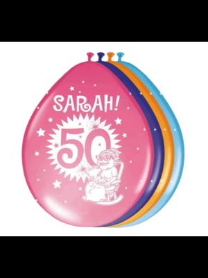 Folat Folat - Ballonnen - 50 Jaar - Sarah - 30 cm - 8st.