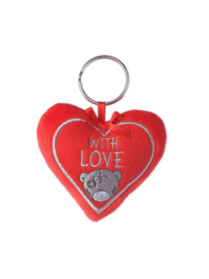 Me to You Me to you - Beer - Sleutelhanger - Pluche heart - With love