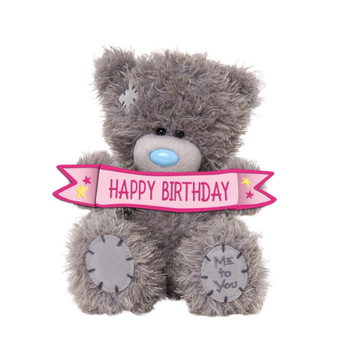 Me to You Knuffel - Beer - Happy birthday - 13cm