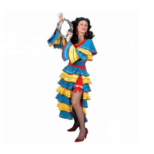 Funny Fashion Kostuum - Jurk - Spaans - Juanita - S