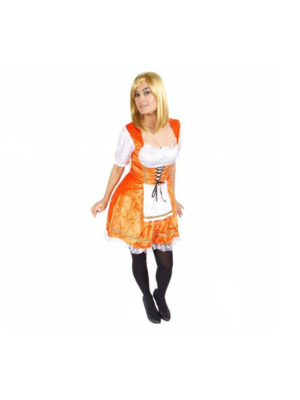 Folat Kostuum - Hollands kaasmeisje - Oranje - S
