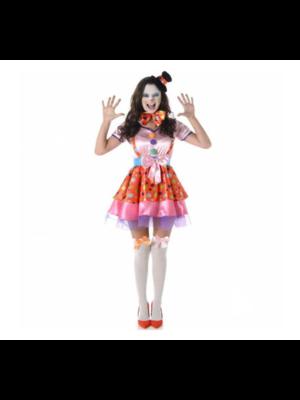 Partychimp Kostuum - Clown - Dames - M