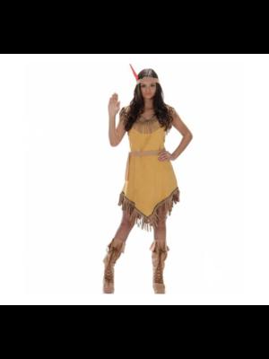 Partychimp Kostuum - Indiaanse - Jurk - Geel - XS