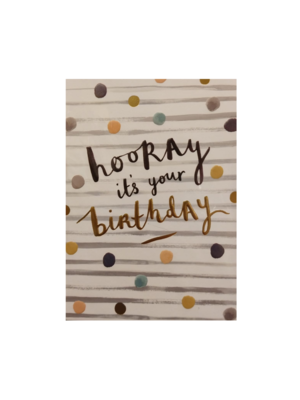 Louise Tiler Kaart - Louise Tiler - Hooray it's your birthday - SS004