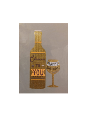 Louise Tiler Kaart - Louise Tiler - Cheers to you - Happy birthday - GG018