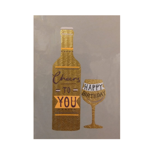 Louise Tiler Lannoo - Kaart - Louise Tiler - Cheers to you - Happy birthday - GG018