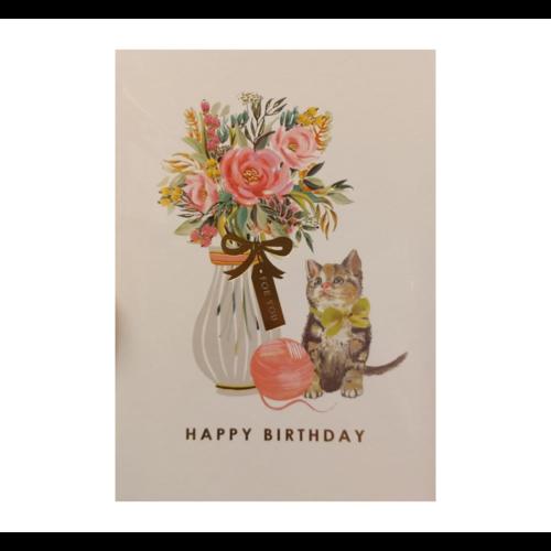 Louise Tiler Lannoo - Kaart - Louise Tiler - Happy birthday - Poes - FA009