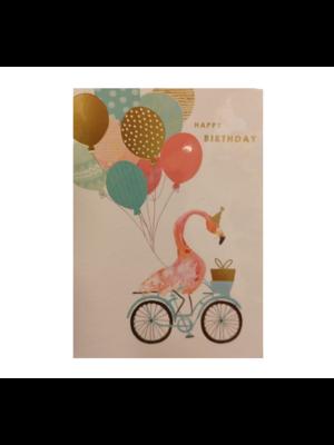 Louise Tiler Kaart - Louise Tiler - Happy birthday - Fiets - FA002