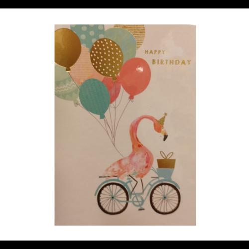 Louise Tiler Lannoo - Kaart - Louise Tiler - Happy birthday - Fiets - FA002