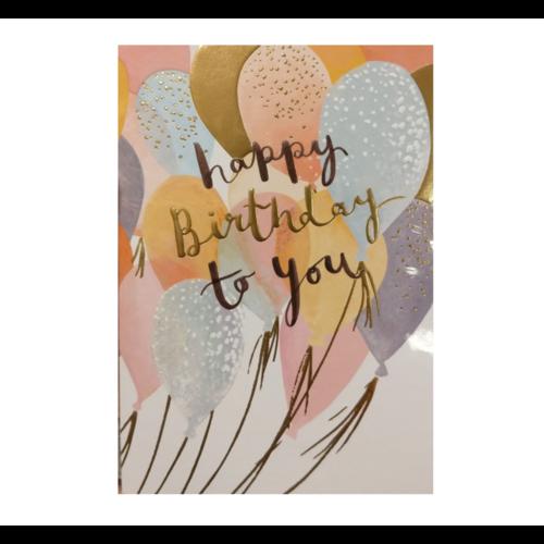 Louise Tiler Lannoo - Kaart - Louise Tiler - Happy birthday to you - Ballonnen - SS002