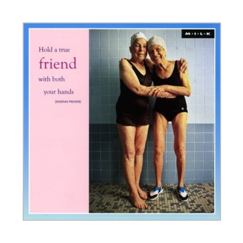 MILK Kaart - Hold a true friend with both your hands