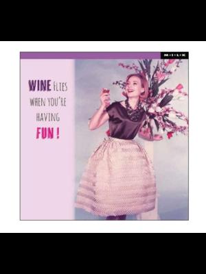 MILK Kaart - Wine flies...