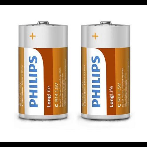 Batterijen - Longlife - C - R14 - Babybatterijen - 2st. in blister