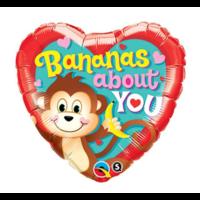 Qualatex - Folieballon - Bananas about you - Zonder vulling - 45cm