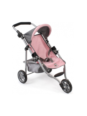 Bayer Chic - Poppenbuggy - Jogging model - Lola - Lichtroze/roze