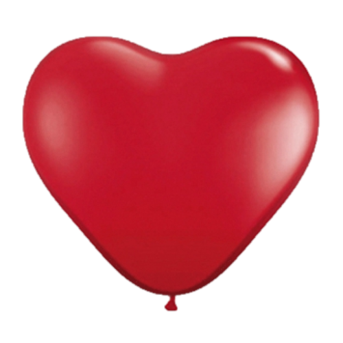 Ballonnen - Hart - Rood - 38cm - 100st.
