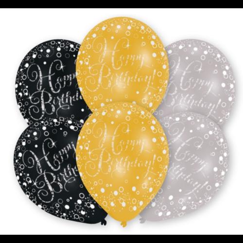 Amscan Ballonnen - Sparkling - Happy Birthday - 28cm - 6st.