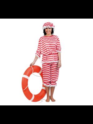 Kostuum - Badpak - Vrouw - Incl. muts - M/L