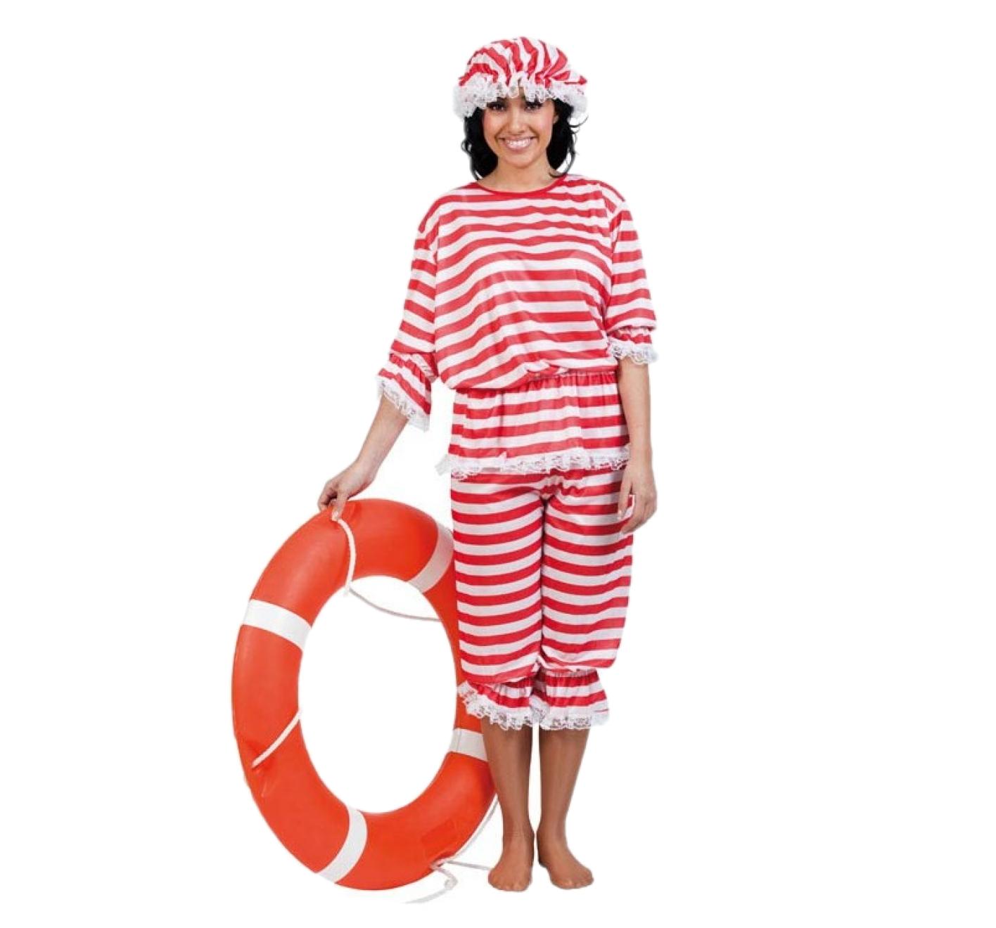 Kostuum - Badpak - Vrouw - Incl. muts - ML