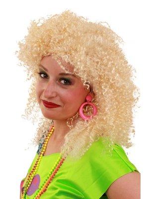 PartyXplosion Pruik - Blond - Nicky - Krulletjes