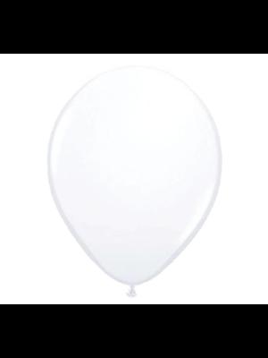 Folat Ballonnen - Wit - Metallic - 30cm - 10st.