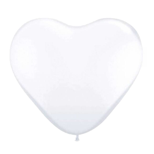 Folat Ballonnen - Wit - Hartjes - 30cm - 8st.