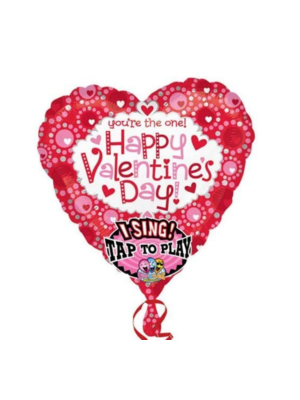 Anagram Folieballon - Happy valentines day - Met muziek - 74cm - Zonder vulling
