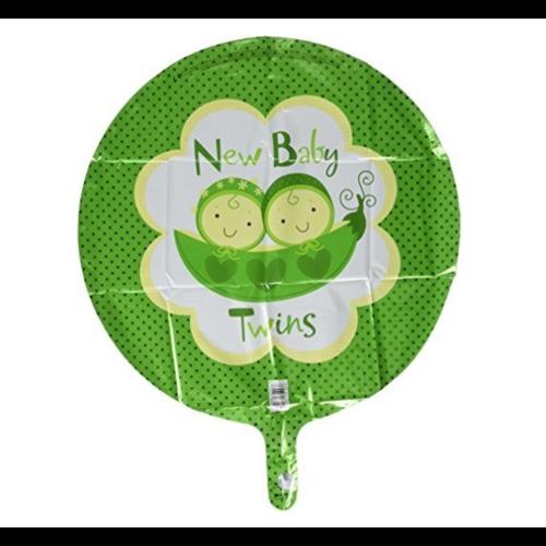 Anagram Folieballon - New baby twins - 43cm - Zonder vulling