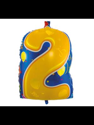 Folat Folieballon - 2 - Shape - 56cm - Zonder vulling