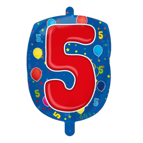Folat Folieballon - 5 - Shape - 56cm - Zonder vulling